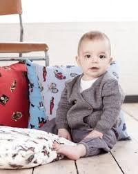 baby boys double ted wool cardigan by their nibs london aw13 english herie collection vine