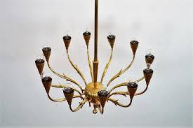 vintage italian brass chandelier from lumi milano 23 1 800 00