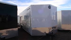wells cargo trailer 8 5x24 v with dry max floors and walls ready for cars