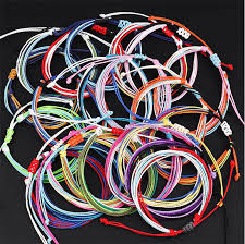 Trendy Kpop Multi Layer Colorful Weave Woven <b>Rope Wax</b> String ...