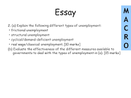 lessons objectives the meaning of unemployment the consequences of  essay