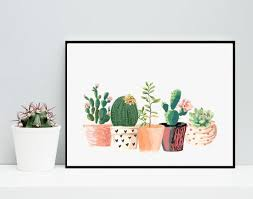 cactus wall art home decor potted cactus watercolor succulents on pink beautiful pots on white canvas on cactus wall art framed with wall art top 10 amazing sample ideas cactus wall art cactus yard
