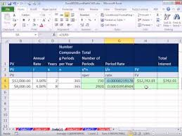 daily interest calculator excel excel 2010 business math 82 calculating interest future value for bank daily interest accounts