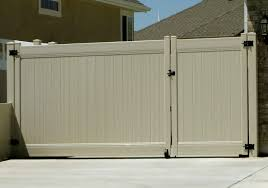 vinyl fence double gate. 13\u0027 TAN DOUBLE VINYL GATE Vinyl Fence Double Gate D