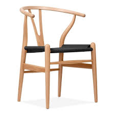 best hans wegner style natural wood wishbone chair with black seat cult uk pics for and