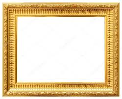 wood vintage frame isolated on white wood frame simple design stock photo