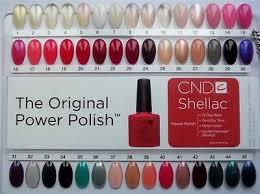Creative Cnd Shellac Salon Shades Nail Tip Color Chart
