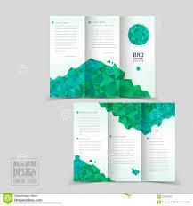 brochure template simplicity tri fold brochure template design stock vector