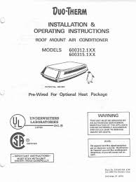 duo therm rv air conditioner wiring diagram images duo therm thermostat wiring diagram