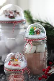 For Christmas How To Make A Mason Jar Lid Snow Globe For Christmas Using A Clear