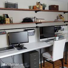 Diy office organization Storage Office Desk Organization System Diy Office Desk The Family Handyman Home Office Desk Organization Ideas You Can Diy The Family Handyman