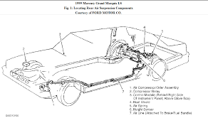 1999 mercury grand marquis rear air compressor a airflow schematic graphic