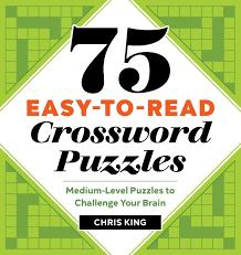 Course Designer Crossword Puzzle Clue Amazon Com 75 Easy To Read Crossword Puzzles Medium Level