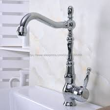 polished chrome kitchen bathroom faucet vessel sink basin swivel spout cold and hot mixer water bnf931