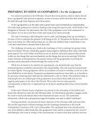 Preparing To Serve As A Godparent By Holy Trinity Greek Orthodox