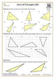 Area Worksheets KS3 | Perimeter Area Worksheets | Area of Triangles