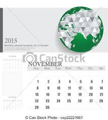 Simple 2015 Calendar Simple 2015 Calendar November Vector Illustration