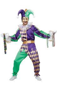 festive mardi gras jester costume