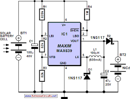 circuit diagram of solar cell the wiring diagram solar powered high efficiency battery charger circuit diagram circuit diagram