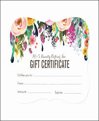 Free Printable Gift Certificates Template Free Printable Gift Certificates For Hair Salon Awesome 30 Unique