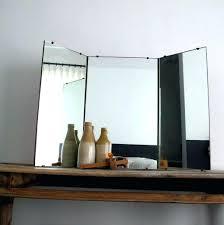 tri fold bathroom vanity mirrors wall mirror full length antique with white  floor vanities