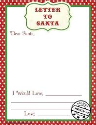 Free Letter From Santa Word Template Letter To Santa Template