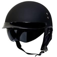 Details About Voss 888frp Solid Color Bullet Cruiser Half Helmet Dot Quick Release Eyeshade
