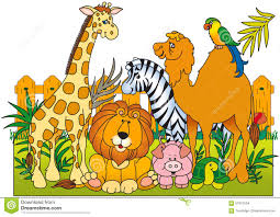 zoo clipart. Modren Clipart Group Wild Animals Zoo Illustrated As Vector 57621634 Animal Inside Clipart E