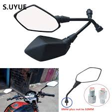 online shop big size motorcycle mirrors 10mm 8mm universal