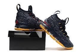 lebron shoes 15. durable modeling nike lebron 15 navy blue yellow james sneakers men\u0027s basketball shoes lebron