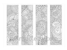 Bookmark Coloring Pages Printable Bookmarks Coloring Page Zendoodle Zentangle Inspired Printable Instant Download Sheet 18