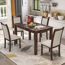 Kitchen Table Design Photos Harper Bright Designs 5 Pieces Dining Table Set For 4 Person