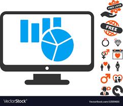 Charts Monitoring Icon With Lovely Bonus
