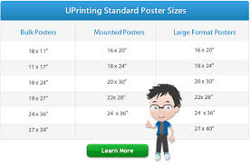 Standard paper sizes can be confusing. Standard Poster Sizes For Printing Design Uprinting Com