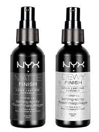 nyx cosmetics matte finish makeup setting spray makeup setting spray er than makeup forever etc