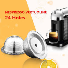 Stainless Steel Coffee Capsules Pods Filters Kit For