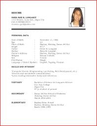 Resume For A Summer Job Elegant A Student Resume Job Latter 24