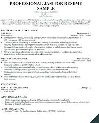 Housekeeping Resume Examples Inspiration Sample Resume For Cleaning Job Great Cleaners Job Resume For How To