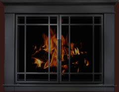Arched Plate Masonry Fireplace Glass Doors Manassa Doors  Brick AnewBlack Fireplace Doors