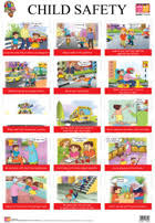 Safety Habits Chart Buy Child Safety Educational Wall Charts For Kids Wall