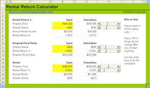 Free Property Rental Yield Calculator Estimate Rental Return