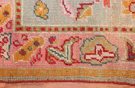 light blue antique oushak turkish rug 49459 texture nazmiyal