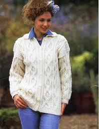 Womens Aran Cardigan Knitting Pattern Pdf Download Ladies Cable