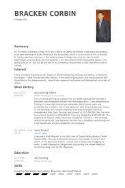 Accounting Internship Resume Sample 6 Intern Samples