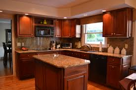 Wonderful Dark Kitchen Cabinets Colors Gallery Of Cherry For Inspiration Decorating