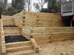 timber retaining wall 9 foot tall with