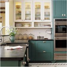 The New Kitchen: 5 Top Trends. Teal CabinetsColored ...