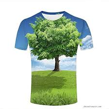 Lush Clothing Size Chart Ouzhouxijia Mens 3d Print T Shirts Lush Tree The Tree Of Hope Graphic Couple Tees B B079l4bn8h