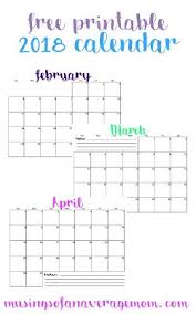 planning calendar template 2018 free printable 2018 monthly calendar all things mom pinterest