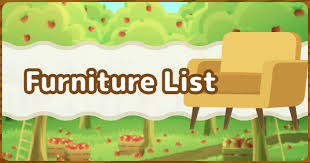 all furniture list acnh gamewith